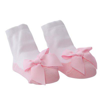 Sweet Bowknot Design Warm Soft Knited Baby Girls Socks