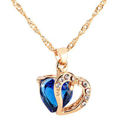Heart Rhinestone Embellished Crystal Necklace