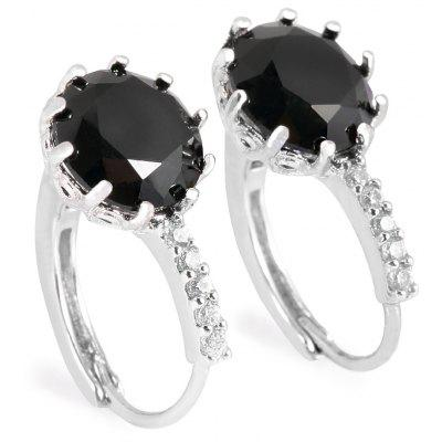 Charming Round Rhinestone Alloy Earrings for Women