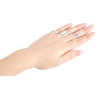3pcs Round Open Alloy Rings for Women