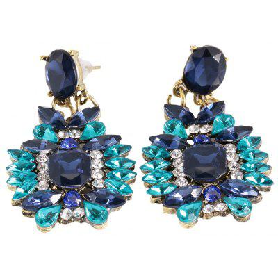Old Classical Rhinestone Floral Alloy Stud Earrings for Ladies