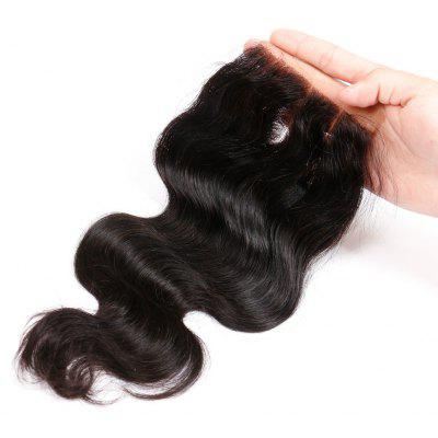 Three Part Brazilian Swiss Lace Closure Body Wave Human Remy Hair Weave