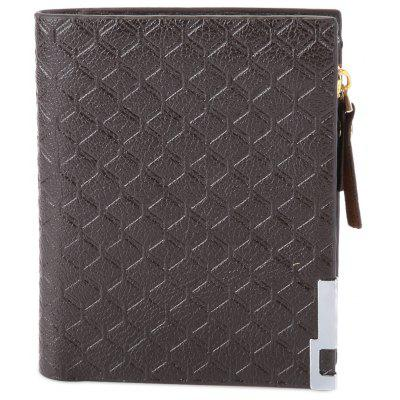 Knurling Design Solid Pattern Zipper Wallet