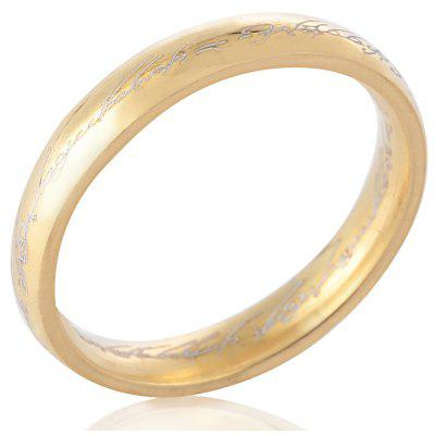 Letter Embellishment Solid Titanium Steel Rings for Men