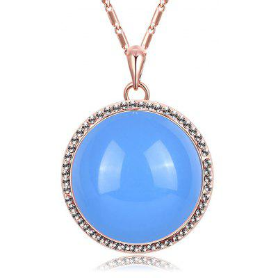 Ball Pattern Zircon Resin Embellished Ladies Pendant Necklace