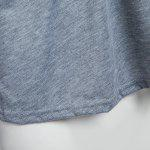 Sexy V-Neck Flare Sleeve Cut Out Lacework Deisgn Spliced Women T-Shirt - GRAY
