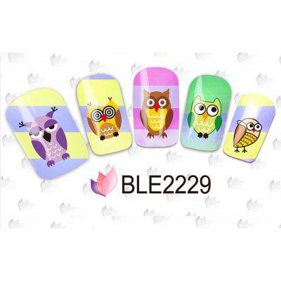 11 Styles Nail Art Stickers Watermark 3D Cute Owl Designs Styling Tools