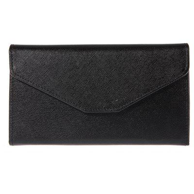 Guapabien Solid Color Snap Fastener Cell Phone Envelope  Clutch Wallet
