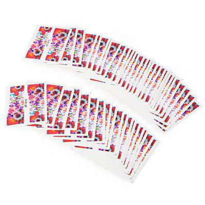 50pcs Water Transfer Nail Wraps Temporary Tattoos Watermark Nail Sticker Tools
