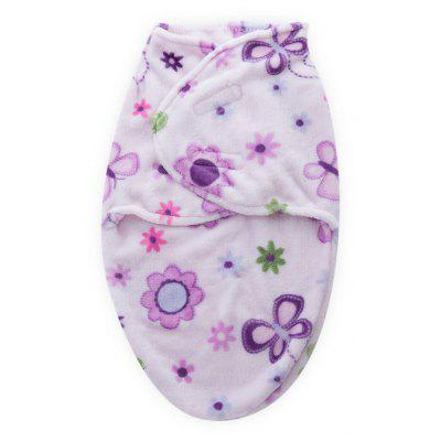 Buy PURPLE FLOWER Supersoft Fleece Infant Bedding Envelope Swaddle Pinted Sweet Blanket for Babies Newborn for $8.30 in GearBest store