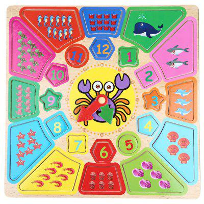 Cartoon Digital Clock  Early Learning Wooden Toys
