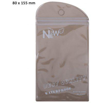 80 x 155mm PVC Ziplock Packaging Bag