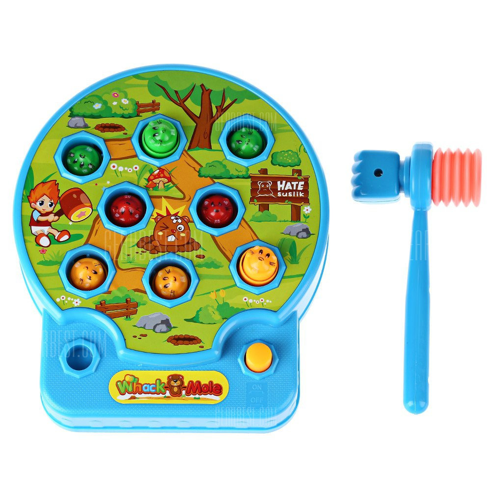Whac-A-Mole Electric Music Playing Hamster Game Machine Children COLORMIX