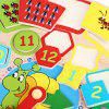 Cartoon Digital Clock Early Learning Wooden Toys - COLORMIX