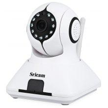 SP006 1.0MP P2P H.264 Pan - Tilt Wireless IP Camera Support TF Card ONVIF Protocol with Alarm Function - 100 - 240V