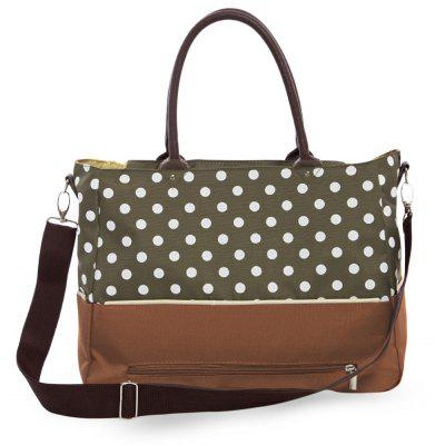 Multifunctional Abrasion-Proof Breathable Dot Pattern Babies Nappy Changing Mummy Tote