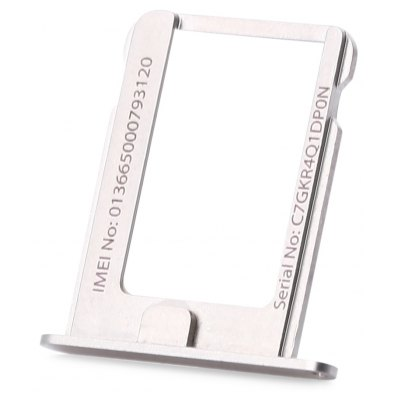 Buy SILVER Micro SIM Card Tray Holder Slot for iPhone 4S for $1.13 in GearBest store