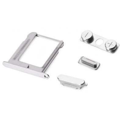 Side Button Set with SIM Card Tray Holder for iPhone 4S
