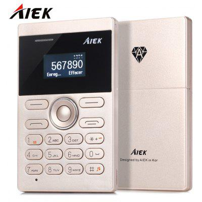 AIEK E1 Quad Band Card Phone 1.0 inch