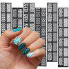 Buy DIY Reusable Stamping Tool Hollow Nail Stickers Stencil BLACK
