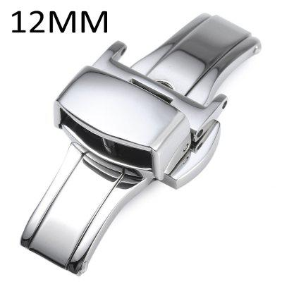 12MM Stainless Steel Double Push Button Butterfly Clasp