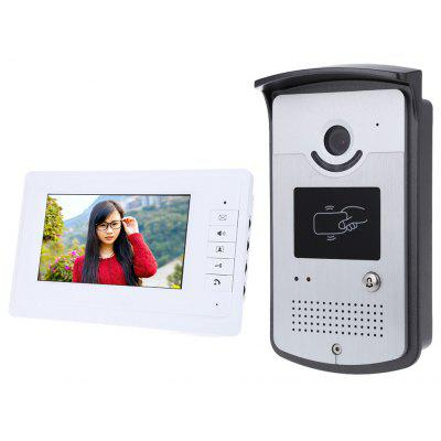 Buy SILVER 7 Inch HD Doorbell Camera Video Intercom Door Phone System for $100.05 in GearBest store