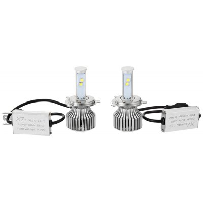 H4 - A 6000K X7 LED Headlight Bulbs