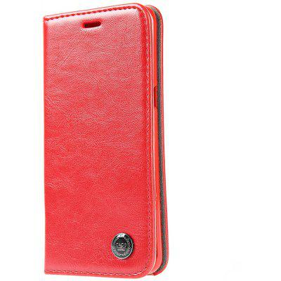Luxury Series Magnetic Flip PU Leather Wallet Cover for Samsung S6 Edge Plus