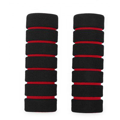 Buy RED One Pair Nonslip Soft Foam Mountain Bike Handle Bar Grips Cover for $1.22 in GearBest store