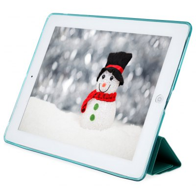 Buy MINT GREEN PU Leather Soft Silicone TPU Back Cover for iPad 2 / 3 / 4 for $7.08 in GearBest store