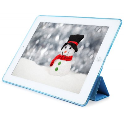 PU Leather Soft Silicone TPU Back Cover for iPad 2 / 3 / 4