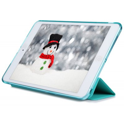 PU Leather Soft Silicone TPU Back Cover for iPad Mini 4