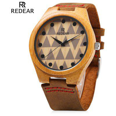 REDEAR SJ 1448 - 7 Wooden Male Quartz Watch