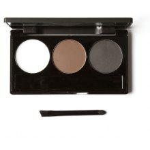 FOCALLURE 3 Color Waterproof Eye Shadow Powder Make Up Palette with Brush