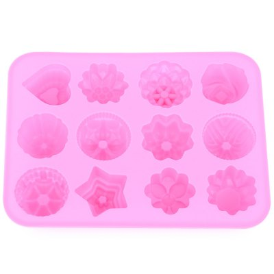 12 Flowers Silicone Rubber Baking Mold