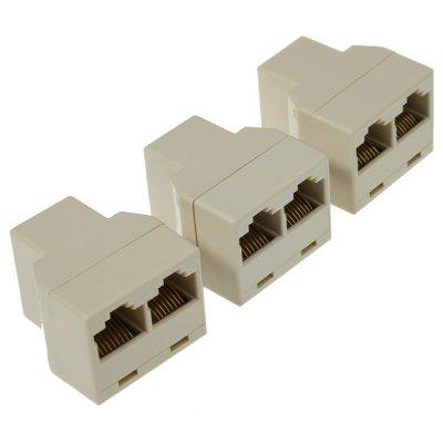3pcs / Pack CAT5 Ethernet Cable LAN 1 to 2 Splitter Adapter