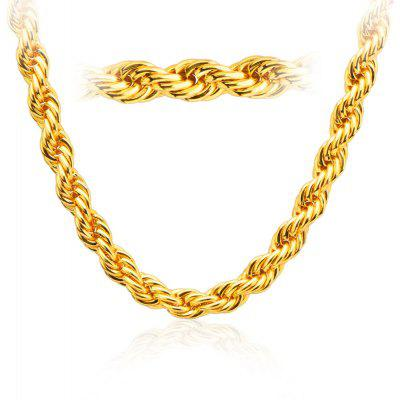 Men Vintage 18k Gold Plated Thick Necklace
