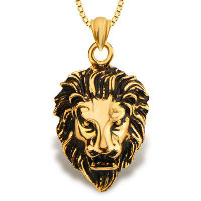 Lion Shape Pendant 18k Gold Plated Necklace