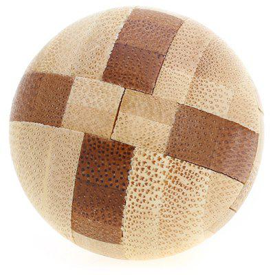 3D Interlocking Ball Wooden Burr Puzzle