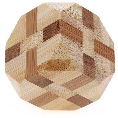 3D Interlocking Tetrakaidecahedron Wooden Burr Puzzle