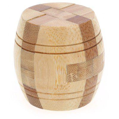 3D Interlocking Barile di legno Burr Puzzle