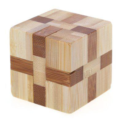 3D Interlocking Cube Wooden Burr Puzzle