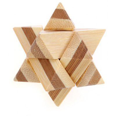 3D Interlocking Star Wooden Burr Puzzle