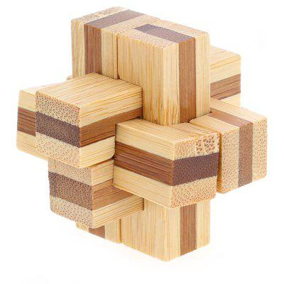 3D Interlocking 6-pieces Cross Wooden Burr Puzzle