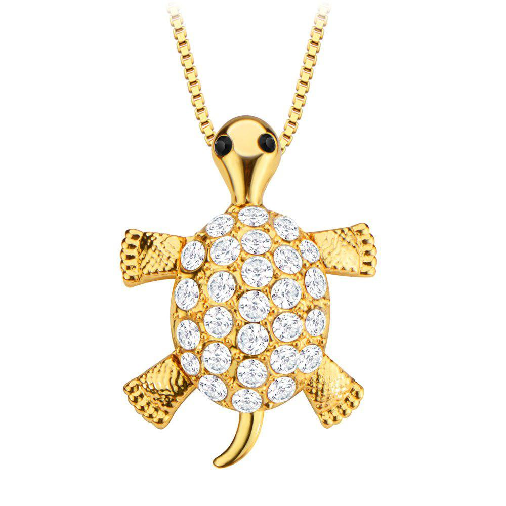 Activity turtle head leg tail crystal embellished 18k gold plated activity turtle head leg tail crystal embellished 18k gold plated necklace aloadofball Gallery