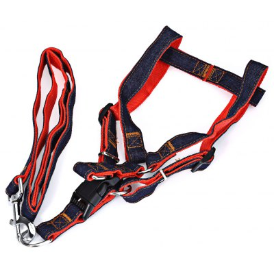 Pet Dog Cowboy Harness Rope Anti-bite Strap Belt