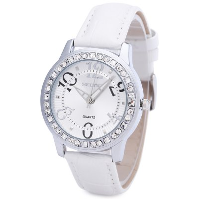 SKONE 9243 Women Leather Band Quartz Wrist Watch
