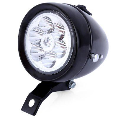Bicycle Front Light Bracket Vintage 6 LEDs Headlight