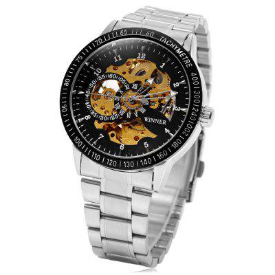 Winner F120596 Automatic Mechanical  Wrist Watch for Men Steel Strap