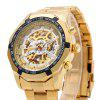 Winner F1205158 Male Automatic Mechanical Wrist Steel Strap - SILVER AND GOLDEN